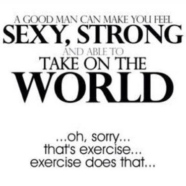 Exercise makes you strong and sexy funny fitspo motivation quote